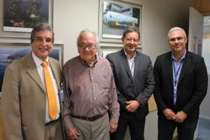 Legenda (da esquerda para a direita): Armindo D'Ascenção Silva (Presidente do Nucleos); Ronaldo  Fabrício; Luiz Claudio Levy Cardoso (Diretor Financeiro); Paulo Sérgio Poggian (Diretor de Benefícios)